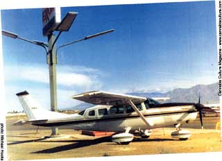 One of several Cessna`s running pot from Mexico to California.