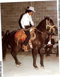 Rafiel Quintero on a horse.