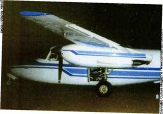 Another of the airplanes used to fly courier missions.